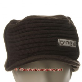 Gorro de lana marron oscuro con visera UDS